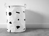 MOXON linen bin in monochrome shapes pattern