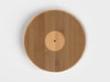 Eco Friendly Bamboo 12 Inch chopping board. Laser engraved to look like a 12 inch record.