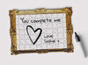 Framed Drawing Jigsaw Puzzle will be the sweetest gift they will ever receive. Use a pen to write your framed message.