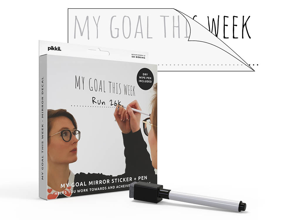 Pikkii My Goal This Week Mirror Decal and Pen Kit