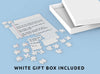 A white gift box is included with the Blank Lined Letter Jigsaw Puzzle. The sweetest personalised gift.