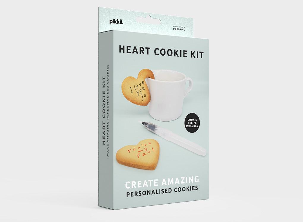 PERSONALISED COOKIE MAKING KIT | SPEECH BUBBLE and LOVE HEART