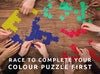 Puzzle Off Game. Race to complete your colour puzzle first. Free UK delivery over £30. Worldwide shipping.