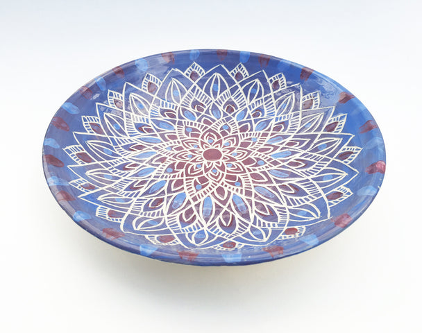 Mandala Ceramic Serving Plate