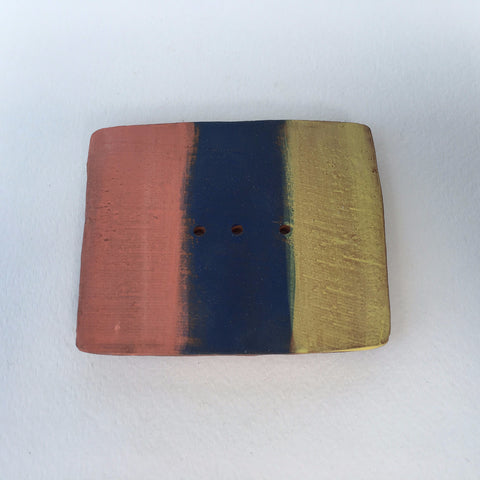 Soap Dish - Coral/Blue/Yellow