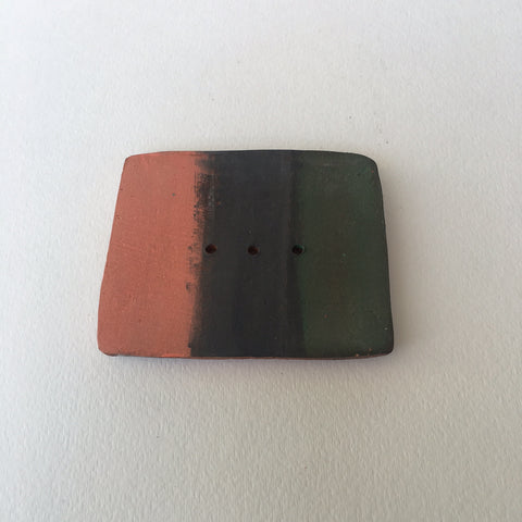 Soap Dish - Green/Charcoal/Coral