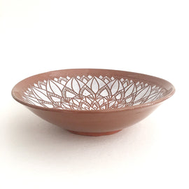 Mandala Terracotta Serving Bowl