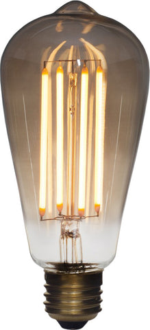 Squirrel Cage LED Light Bulb - 3W Tinted