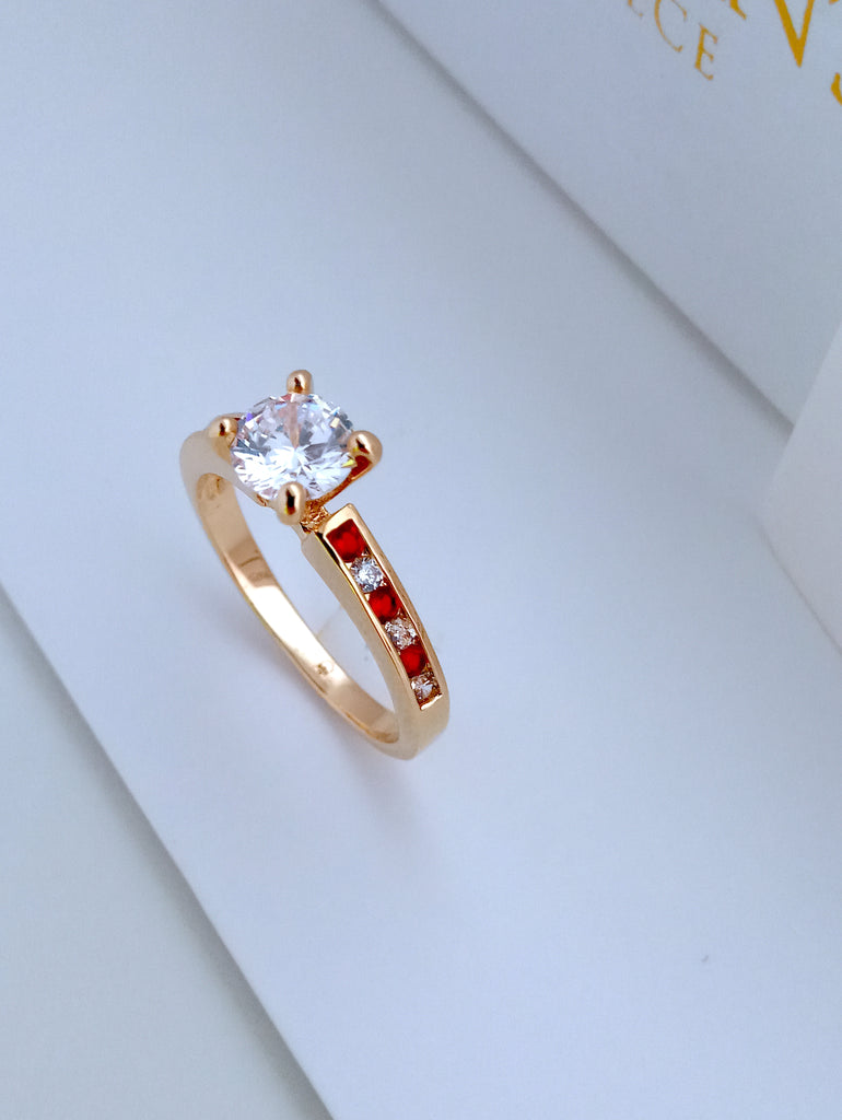RED Ring cubic zirconia