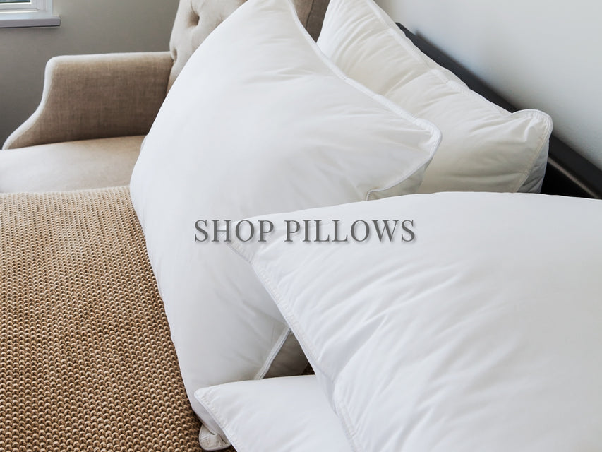 firm pillow on bed