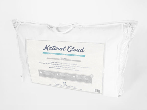 Natural Cloud 20/80 Hotel Pillow Packaging - Down and Feather