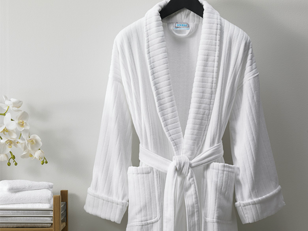Striped Velour Bath Robe