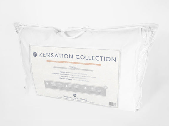 Zensation Pillow Packaging - Down Alternative