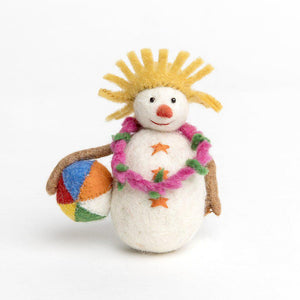 At the Beach Snowman Ornament
