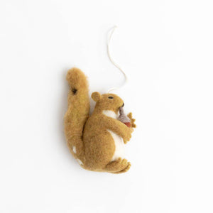 Autumn Bounty Squirrel Ornament