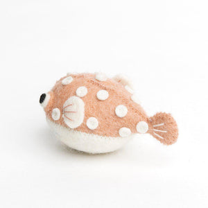 Pink Big Puff Pufferfish Ornament