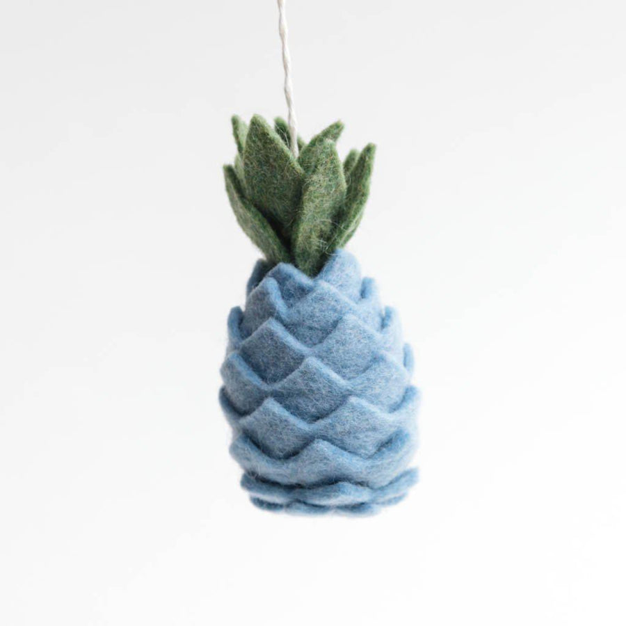 Blue Piña-Colada Days Pineapple Ornament