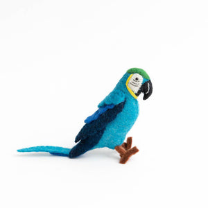 Blue Voice of the Forest Parrot Ornament