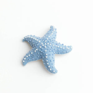 Blue Wave Star Fish Ornament