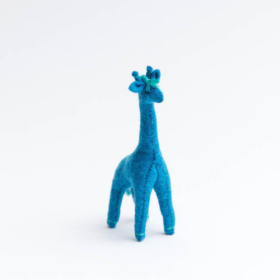 Blue Wild Beauty Giraffe Ornament