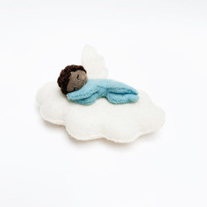 Brown Beauty Slumber Cloud Babe Blue Ornament