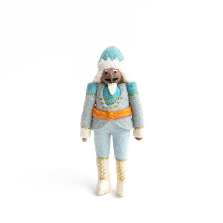 Brown Icy Blue Nutcracker Ornament