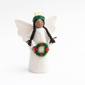 Brown Santa Lucia Tree Topper With Braids