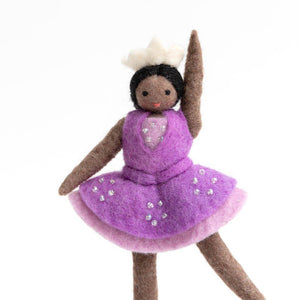 Brown Sugar Plum Ballerina Ornament