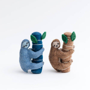 Blue Big Embrace Sloth Ornament