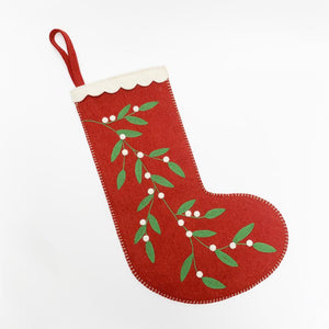Contemporary Red Winter Berry Stocking