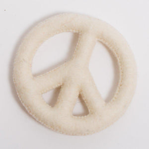 Make Love Not War Peace Sign - White
