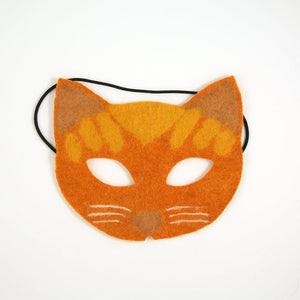 A Craftspring handmade orange felt Sun Catcher Kitty Mask