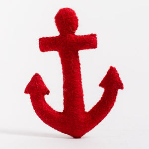 A Craftspring handmade red felt anchor ornament