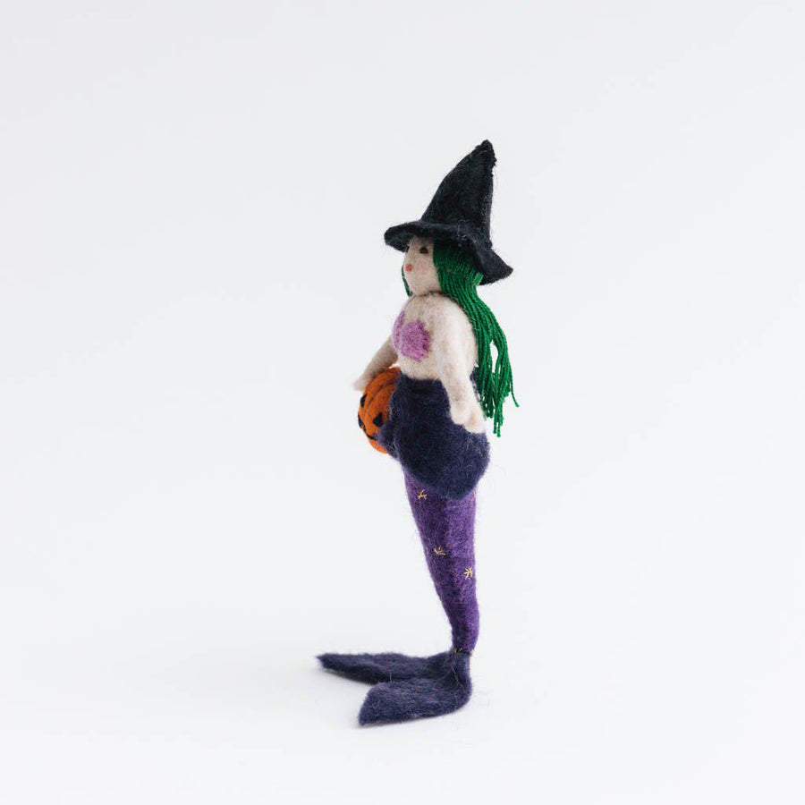 Cauldron's Brew Witch Mermaid Ornament