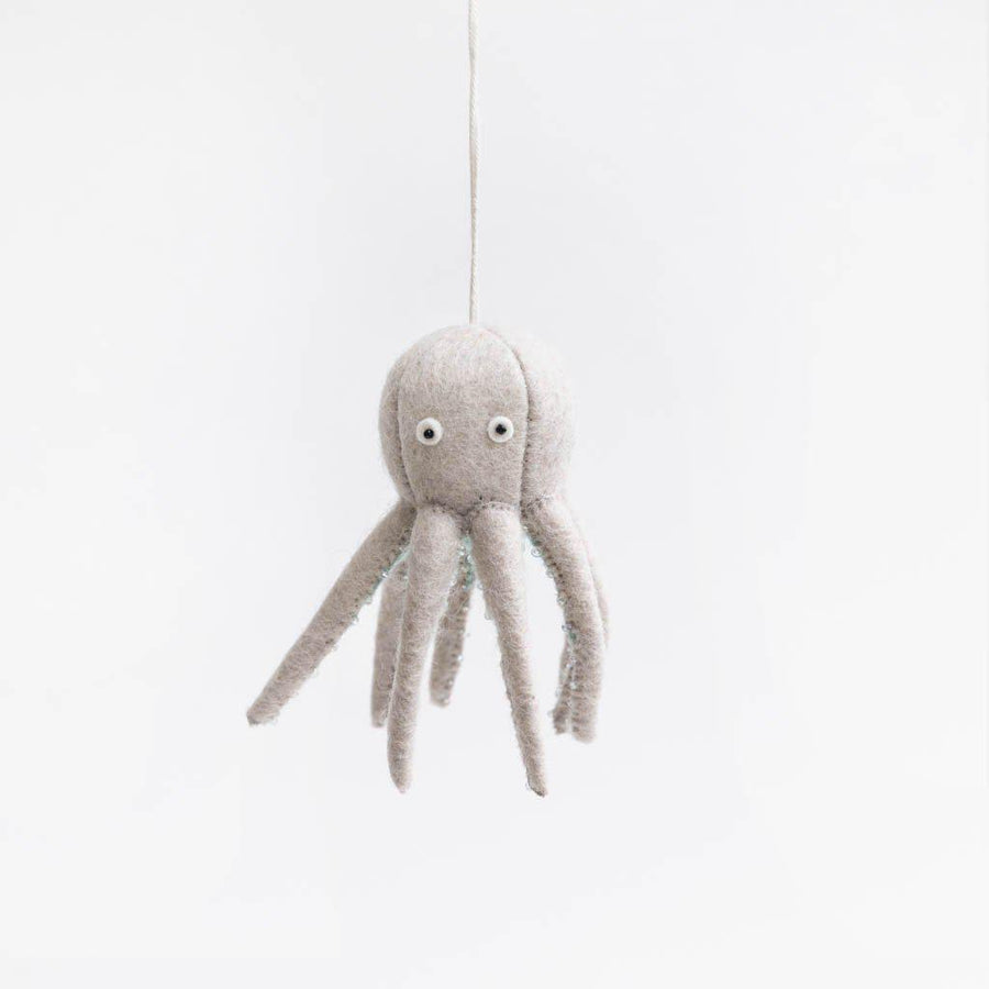 Eggshell Octopus Ornament