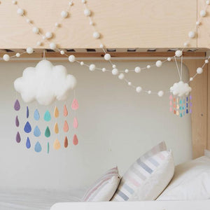 Large Pastel Rainbow Drop Cloud Wall Hanging
