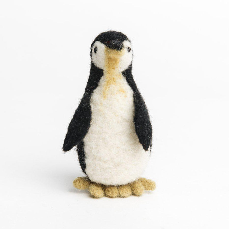 A craftspring handmade needle felted penguin ornament