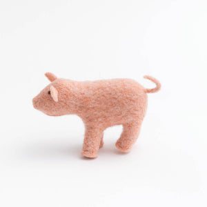 Fuzzy Farm Pig Ornament