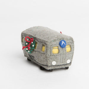 Handmade Felt NYC A Subway Train Ornament