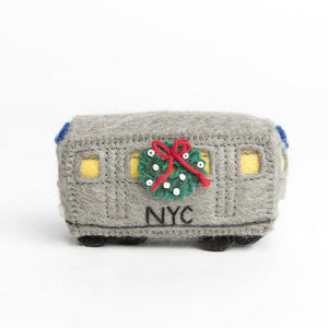 A Subway Train Ornament