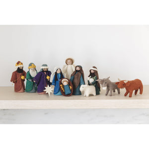 A Craftspring handmade felt nativity set