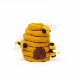 Sunflower Honey Days Beehive Ornament