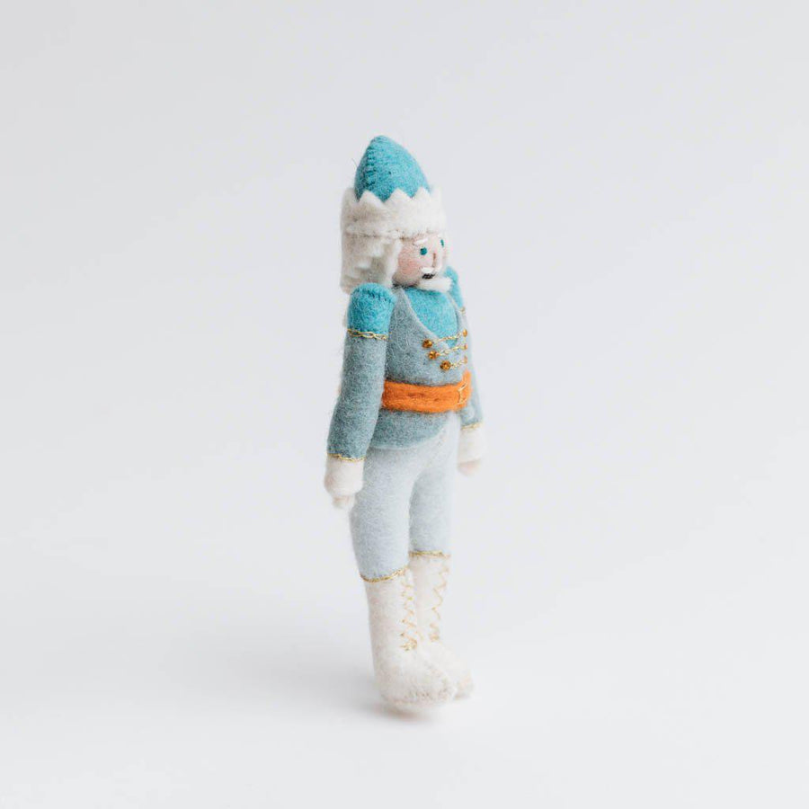 Icy Blue Nutcracker Ornament