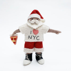 Brown New York, New York Santa Ornament