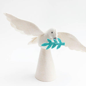 Large Season of Peace Dove Tree Topper