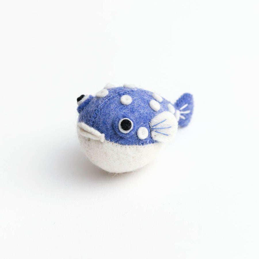 Lavender Big Puff Pufferfish Ornament