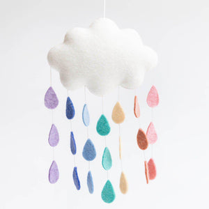 Medium Pastel Rainbow Drop Cloud Wall Hanging