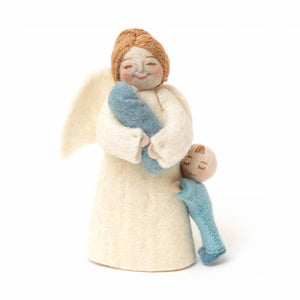 Mother's Pride with Newborn and Toddler Angel - Blue