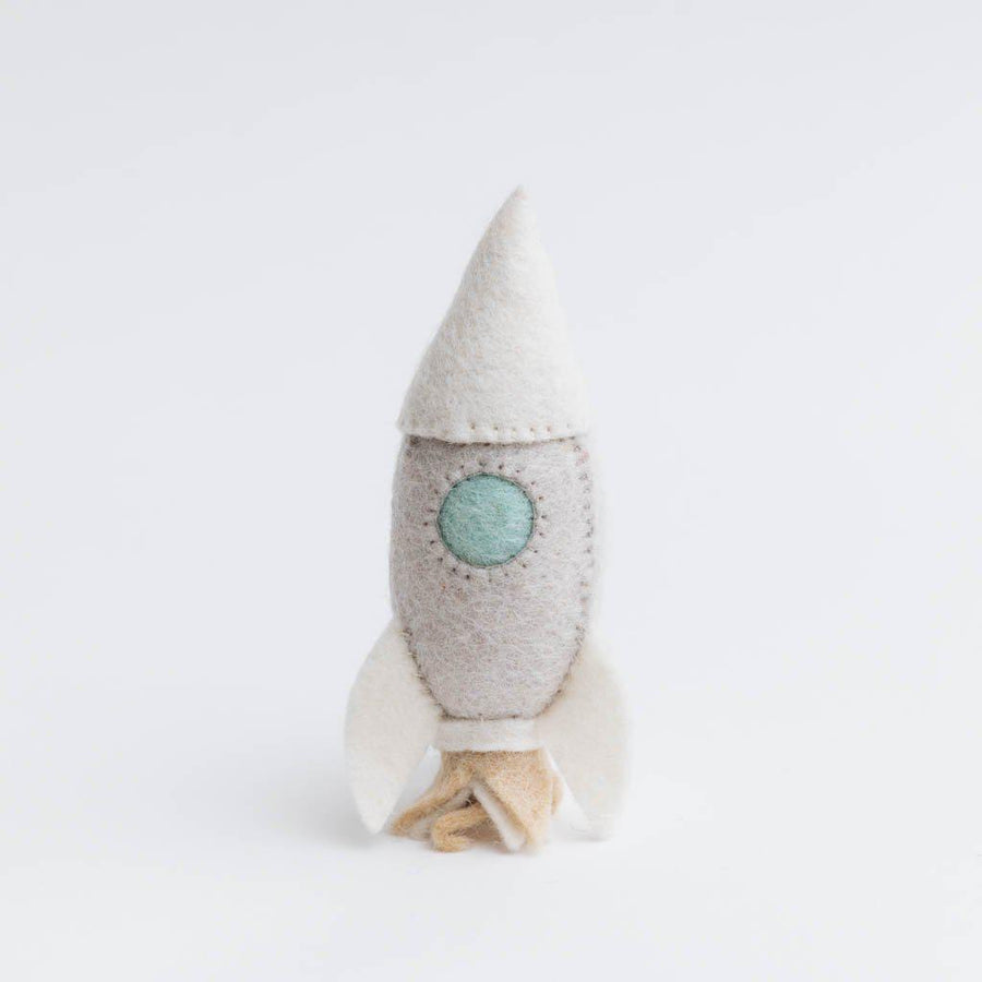 Natural Cosmic Adventure Rocket Ship Ornament