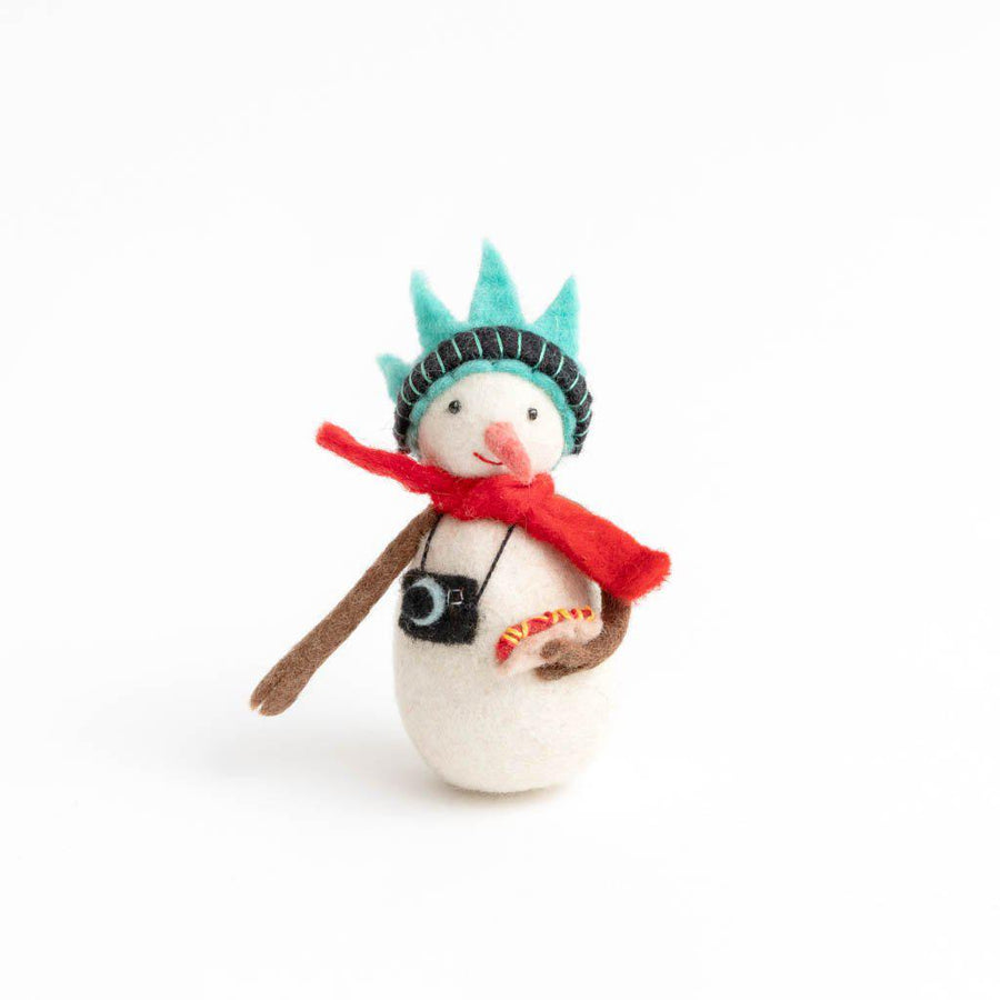 New York City Snowman Ornament